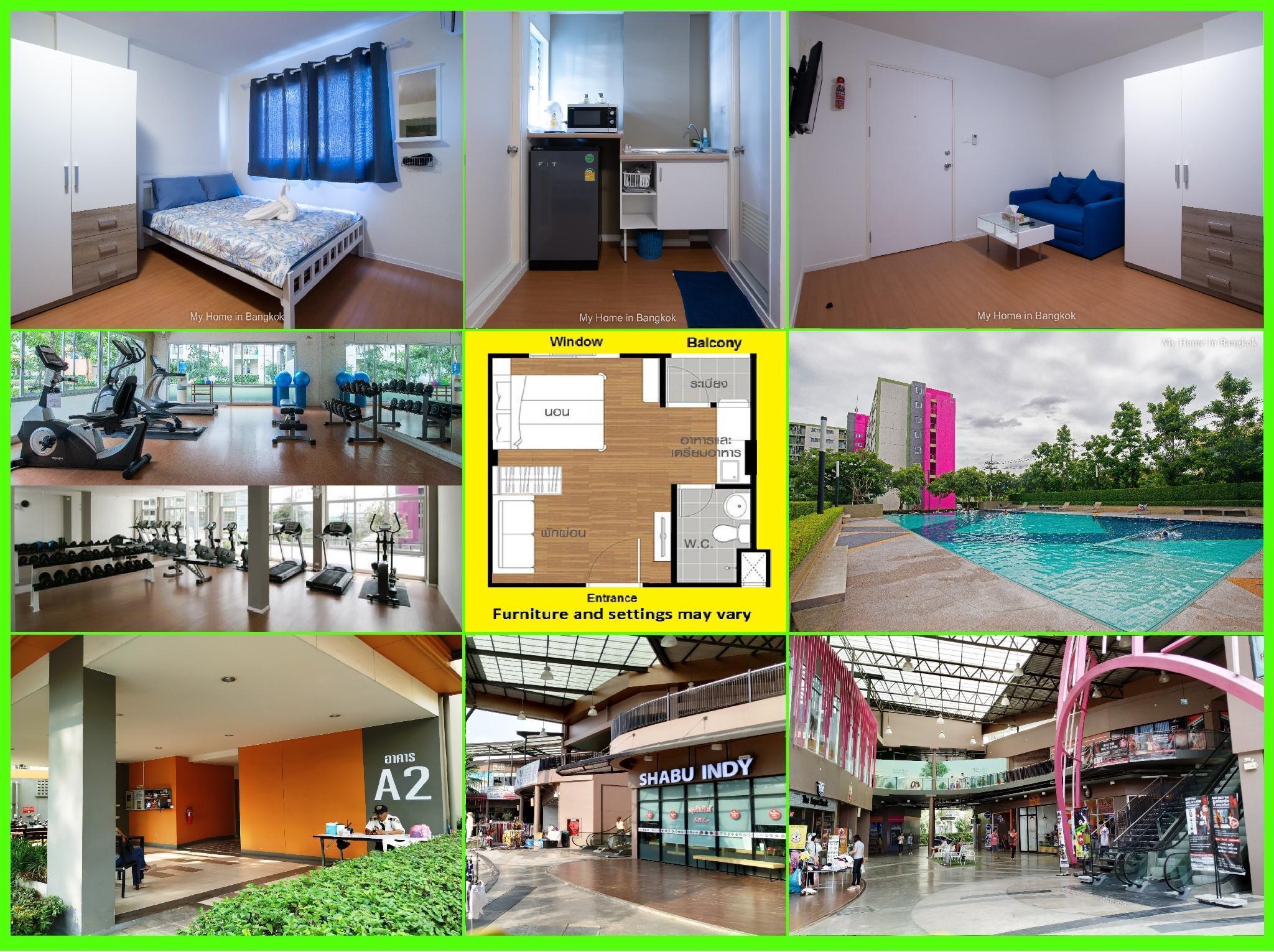 Family Apartment My Home In Bangkok C1 508