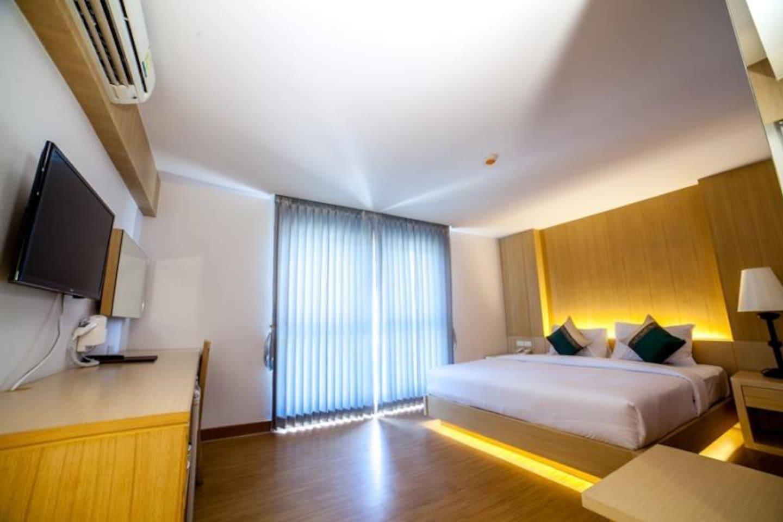 Luxurious Deluxe room at the Harbour อพาร์ตเมนต์ 1 ห้องนอน 1 ห้องน้ำส่วนตัว ขนาด 52 ตร.ม. – อ่าวต้นไทร