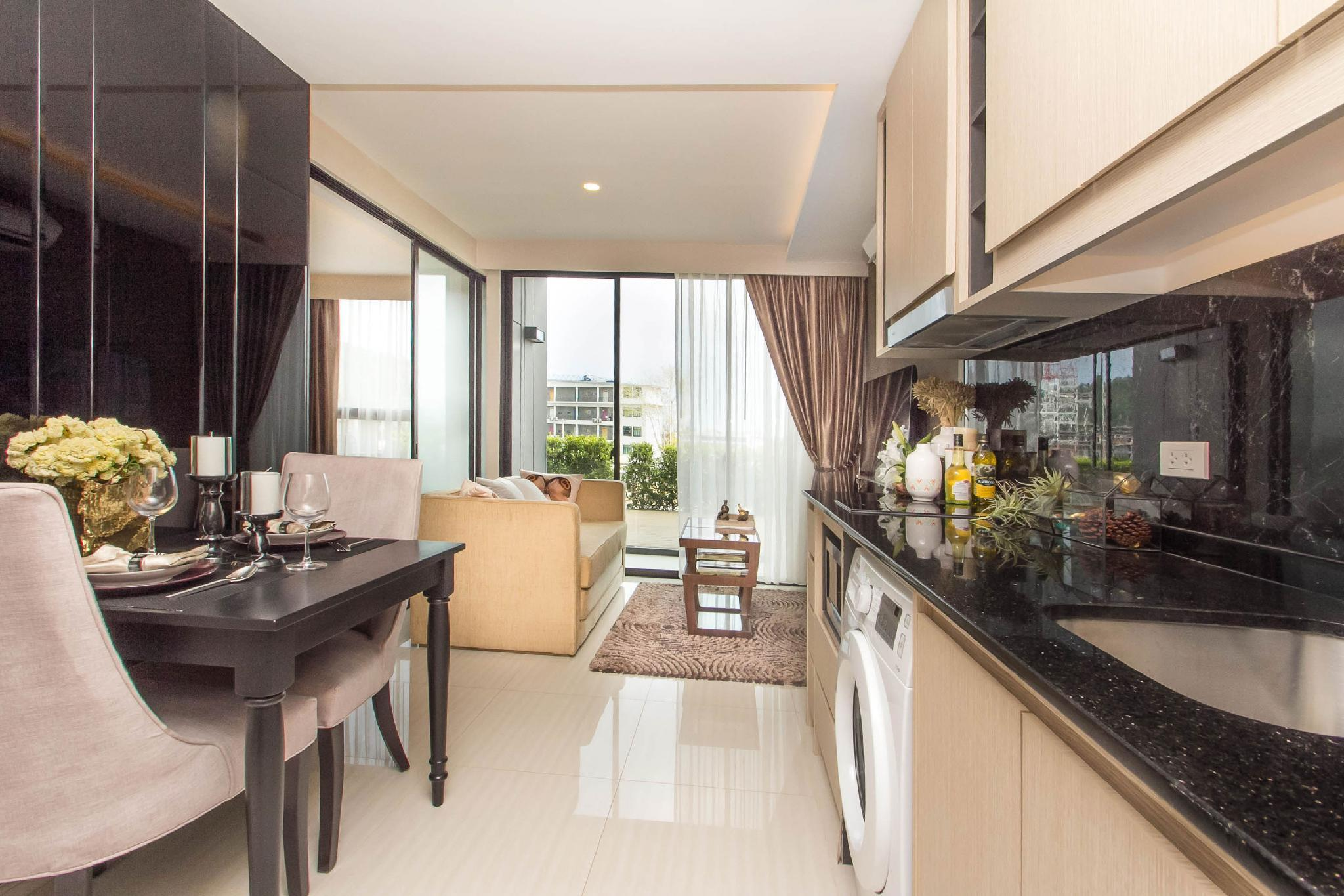 Stylish Panora apartment 5 min walk to Surin Beach อพาร์ตเมนต์ 1 ห้องนอน 1 ห้องน้ำส่วนตัว ขนาด 47 ตร.ม. – สุรินทร์