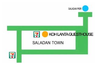 [サラダン]アパートメント(30m2)| 1ベッドルーム/1バスルーム Koh Lanta Guest House triple aircon