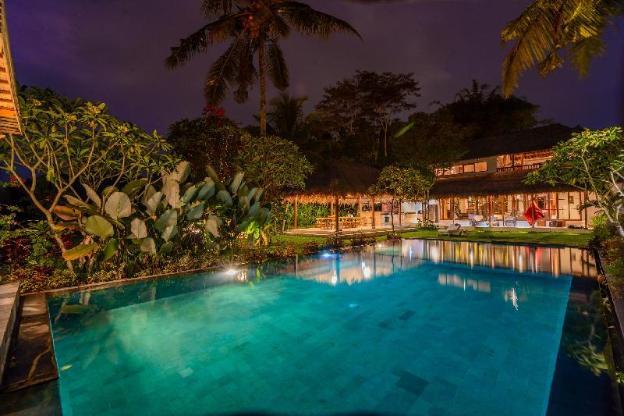Secret Jungle rice field villa by famous designer
