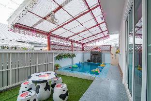 [ホアヒン市内中心地]ヴィラ(120m2)| 3ベッドルーム/2バスルーム Orchid Hut Pool Villa (HuaySaiTai Cha-am)