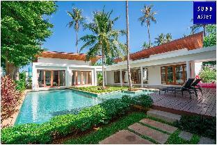[プランブリー]ヴィラ(400m2)| 4ベッドルーム/4バスルーム Modern Style PoolVilla | 1min to Pranburi Beach