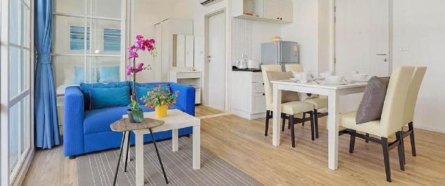 อพาร์ตเมนต์ 1 ห้องนอน 1 ห้องน้ำส่วนตัว ขนาด 42 ตร.ม. – เขาตะเกียบ – [209] Summer HuaHin condominium by sansiri