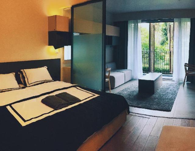อพาร์ตเมนต์ 1 ห้องนอน 1 ห้องน้ำส่วนตัว ขนาด 50 ตร.ม. – สุขุมวิท – Owowow City Resort – 50m2 – Asoke Nana BTS MRT