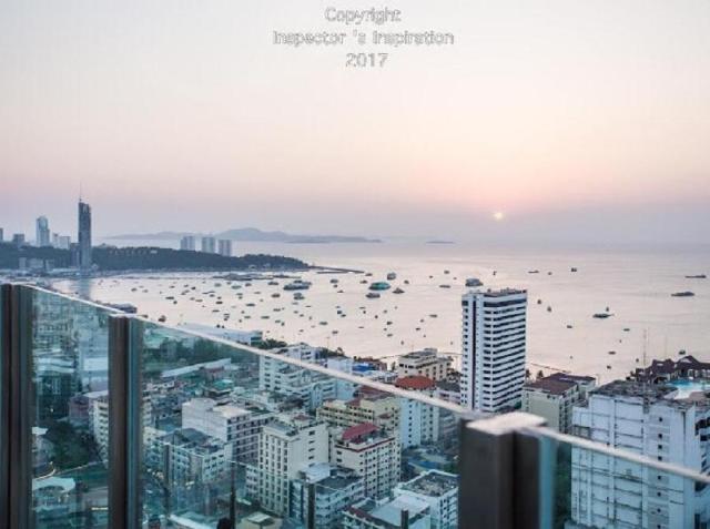 อพาร์ตเมนต์ 1 ห้องนอน 1 ห้องน้ำส่วนตัว ขนาด 30 ตร.ม. – พัทยากลาง – The Base pool sky panorama sea view 888