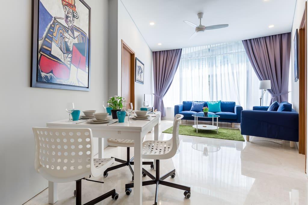 Comfy & Modern 2BR Suites 5 Min Walk To KLCC