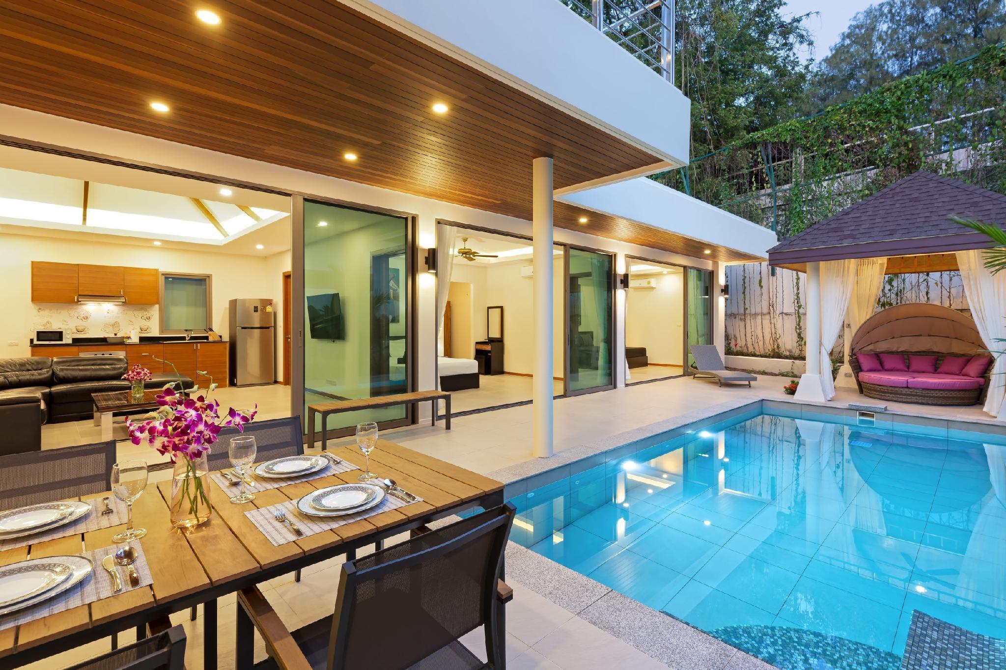 Villa Mika วิลลา 4 ห้องนอน 4 ห้องน้ำส่วนตัว ขนาด 200 ตร.ม. – หาดราไวย์
