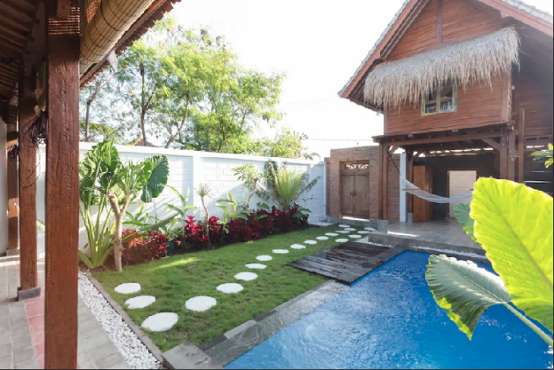 New villa joglo style with private pool in Canggu