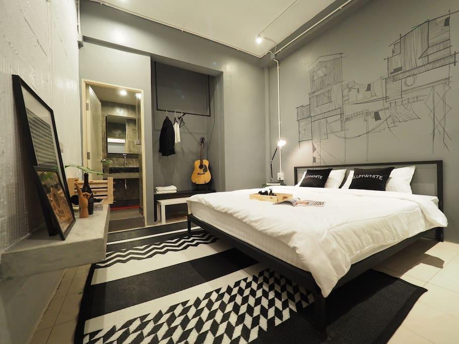 Design double room ensuite JJmarket /BTS /Aree