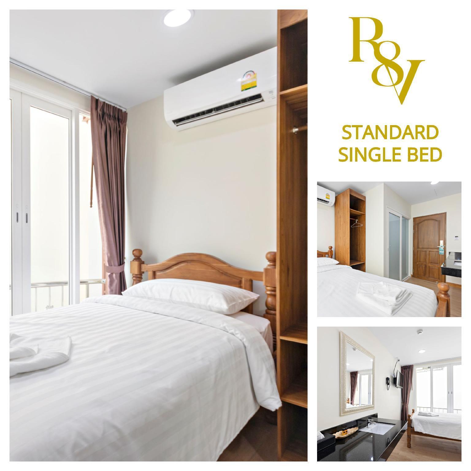 Standard Single Bed (SSB)-Royale 8 Ville อพาร์ตเมนต์ 1 ห้องนอน 1 ห้องน้ำส่วนตัว ขนาด 14 ตร.ม. – ข้าวสาร