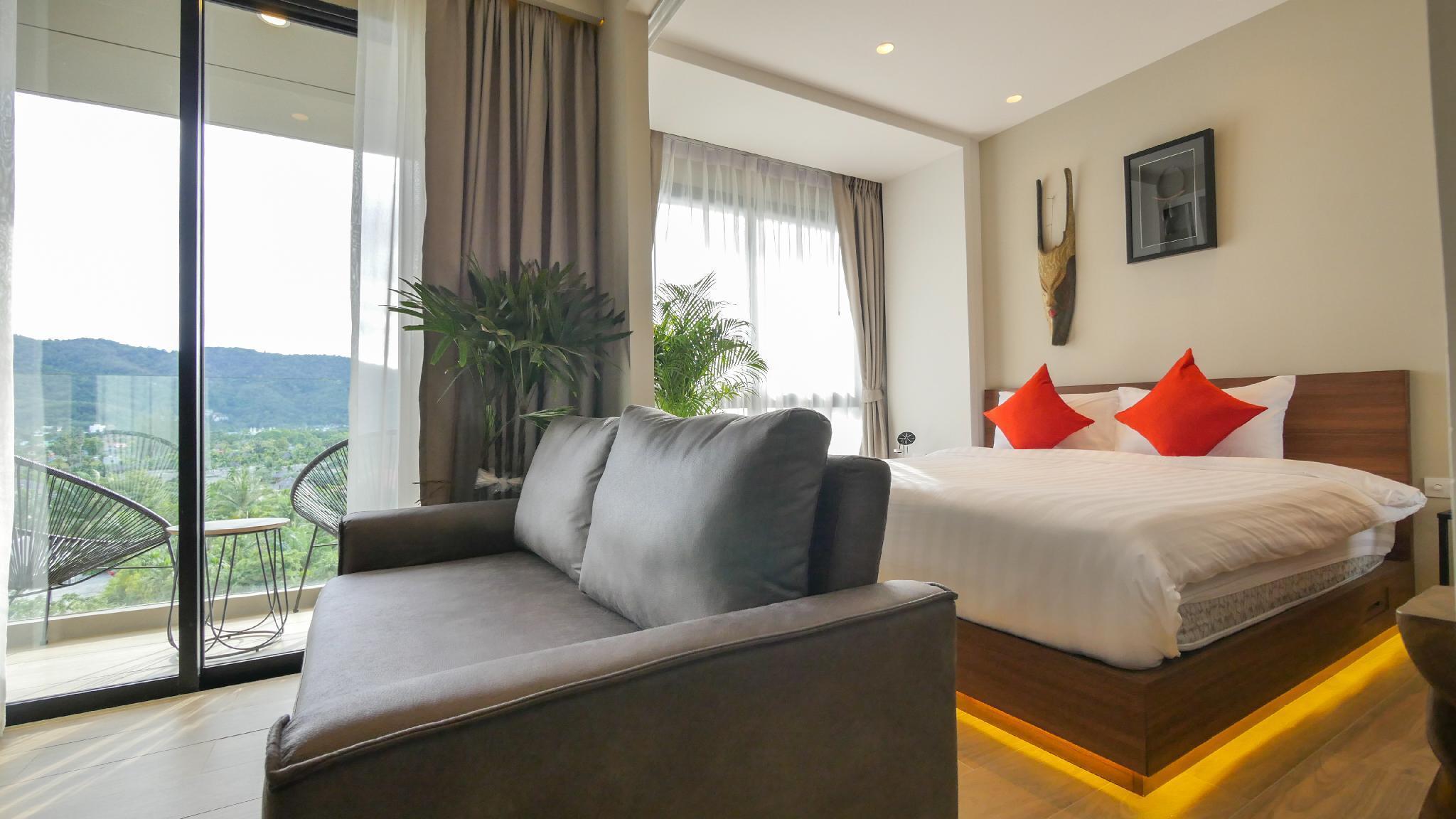 Cozy 1 Bedroom Apartment อพาร์ตเมนต์ 1 ห้องนอน 1 ห้องน้ำส่วนตัว ขนาด 33 ตร.ม. – บางเทา