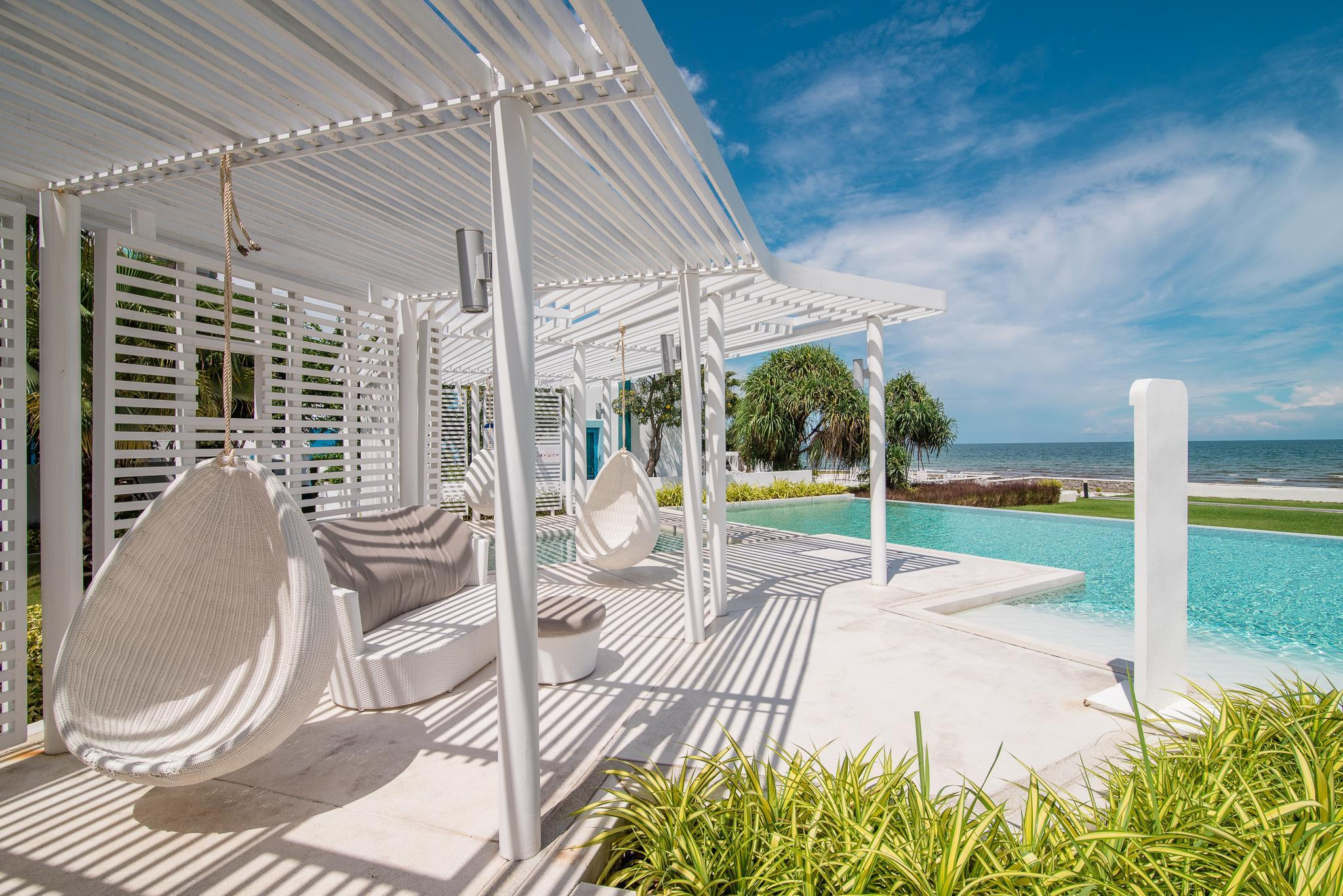 Unwind in a Luxury Beach Condo with private beach อพาร์ตเมนต์ 2 ห้องนอน 2 ห้องน้ำส่วนตัว ขนาด 75 ตร.ม. – ชายหาดหัวหิน