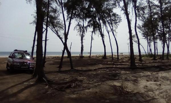 Romantic sea front  coral white sand sea RESORTS Rameswaram
