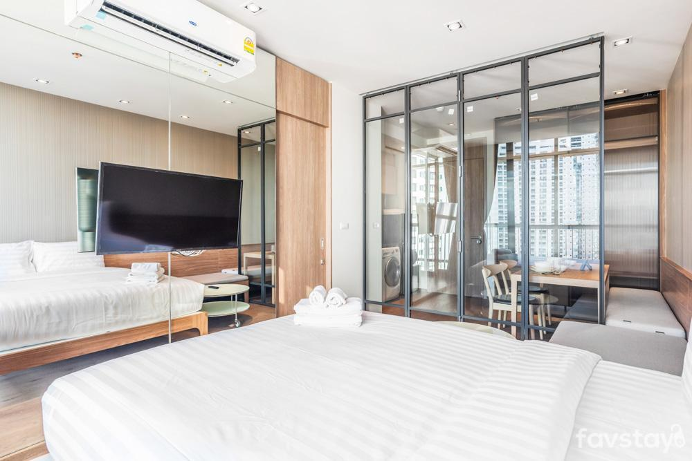 Cloud Pool , [1BR] Park24 BTS Phrom Phong อพาร์ตเมนต์ 1 ห้องนอน 1 ห้องน้ำส่วนตัว ขนาด 30 ตร.ม. – สุขุมวิท