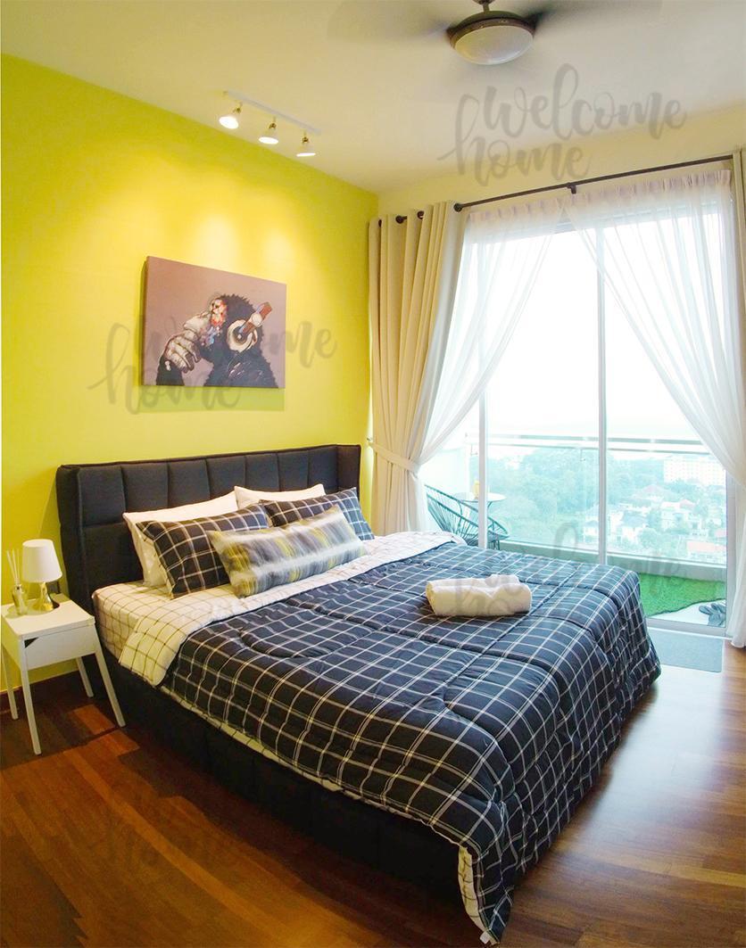Seaview King Bed Modern STUDIO          Free Wifi