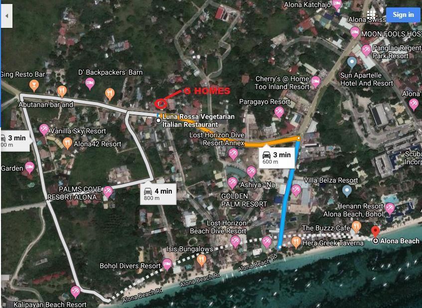 G HOME  5 10 Mins. Walk To Alona Beach