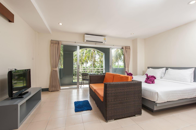 2 Bedroom Connecting near Rawai & Naiharn beach อพาร์ตเมนต์ 2 ห้องนอน 2 ห้องน้ำส่วนตัว ขนาด 50 ตร.ม. – ในหาน