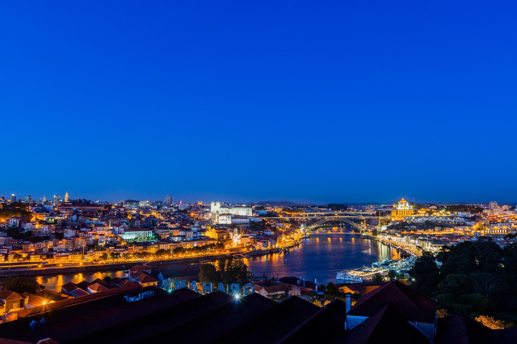 Stunning View Of Douro River And D. Luis I Bridge