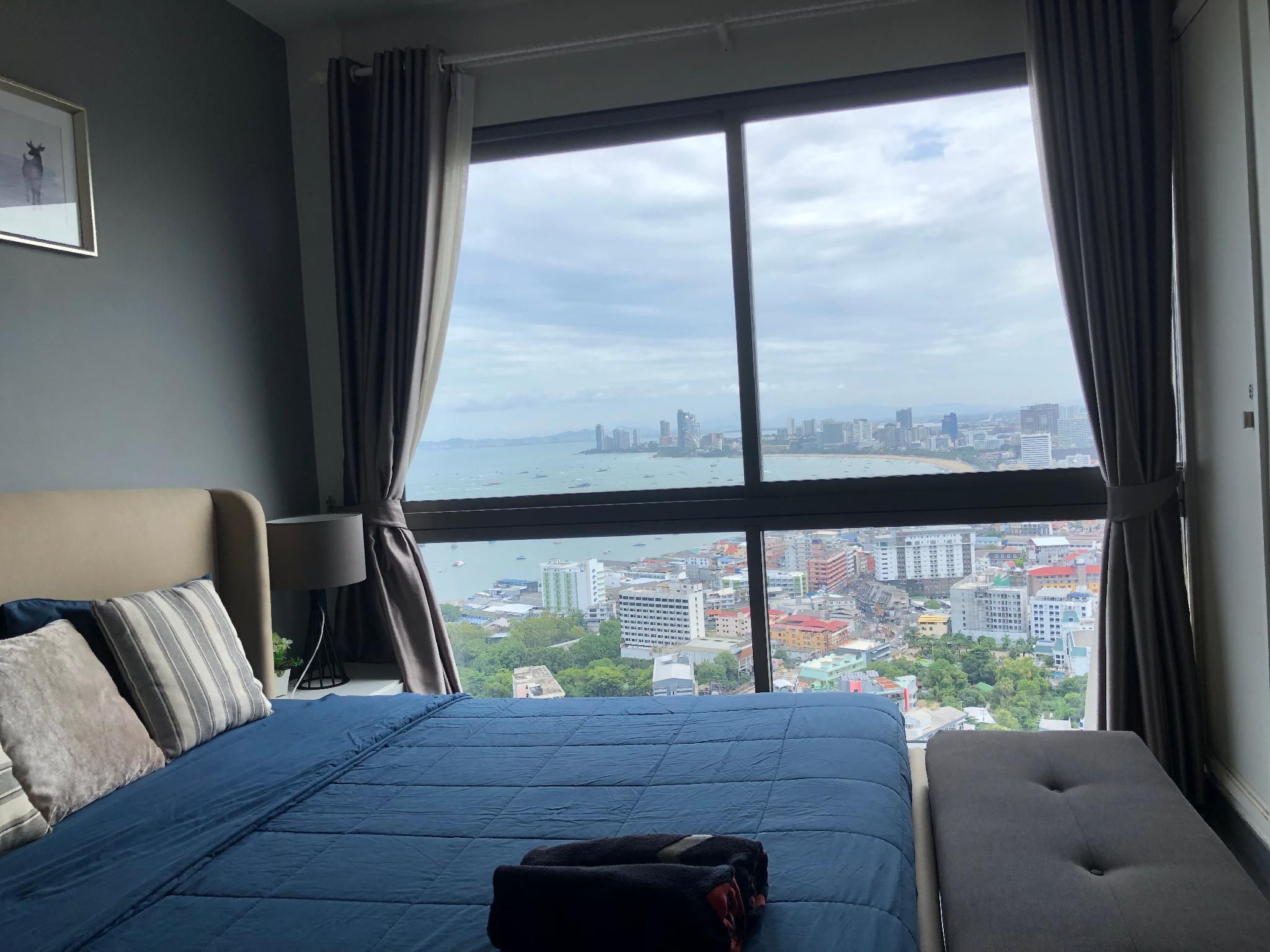 Unixx seaview 36 อพาร์ตเมนต์ 1 ห้องนอน 1 ห้องน้ำส่วนตัว ขนาด 27 ตร.ม. – พัทยาใต้